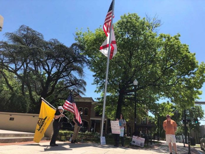 Reopen Alabama rally draws small crowd in Huntsville