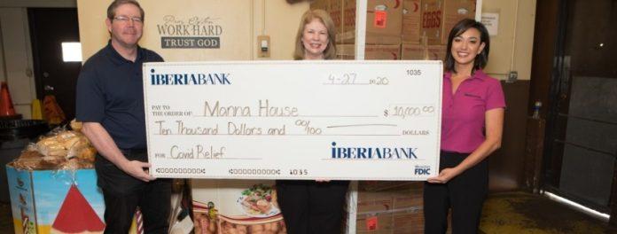 IberiaBank Donates $10,000 to Manna House
