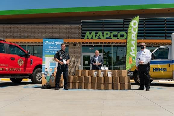 MAPCO donates 2,400 N95 masks to area first responders