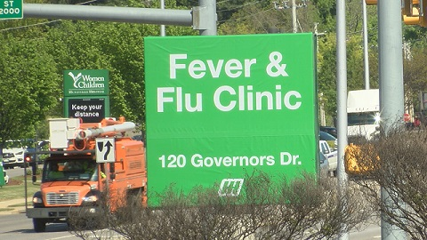 Huntsville Hospital seeing 70 percent decrease in fever and flu clinic patients