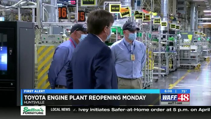 Plans for Huntsville Toyota plant to reopen