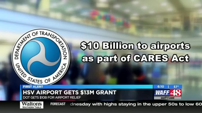 U.S. DOT giving Huntsville International Airport almost $13.8M in relief funds