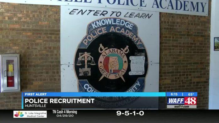 Huntsville police recruitment increasing during pandemic