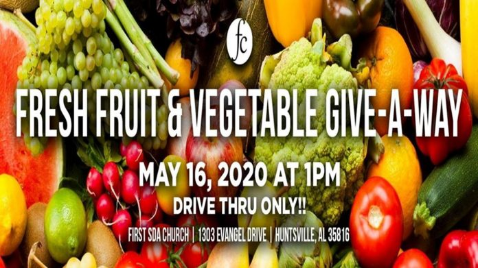 Local church giving away fresh fruit and vegetables this Saturday