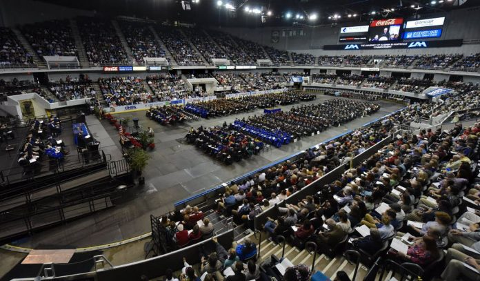 Huntsville will hold graduation ceremonies at arena, all students to wear masks