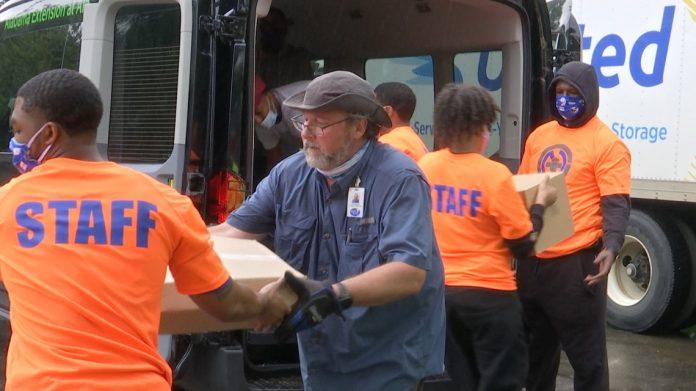 Community partnerships helping 2,500 families a week