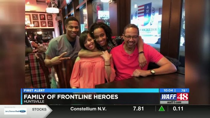 Front line family: Huntsville mom, kids work health care front lines every day