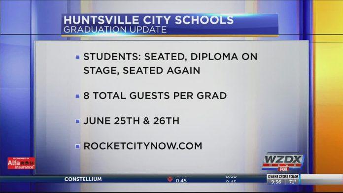 Huntsville City Schools announces graduation plans