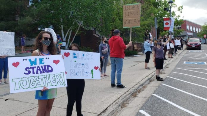 Huntsville Residents Stand In Solidarity Against Racial Injustices In Canada And U.S.