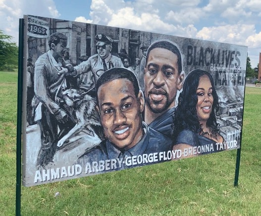 Huntsville artists pay homage to Black Lives Matter movement with installation