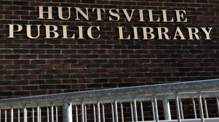 Huntsville library drop box reopens