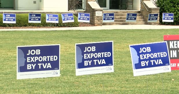 Union workers in Huntsville protest TVA layoffs