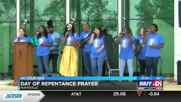 Repentance, prayer gathering held in downtown Huntsville