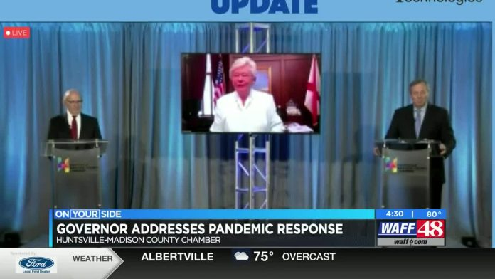 Gov. Ivey discusses virus response, business labeling