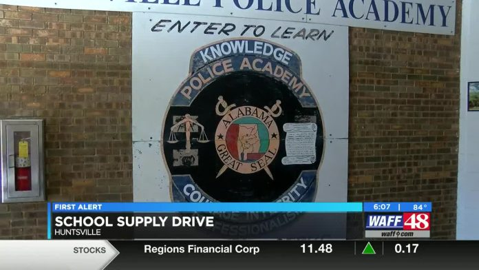 Huntsville Police Department hosting school supply drive