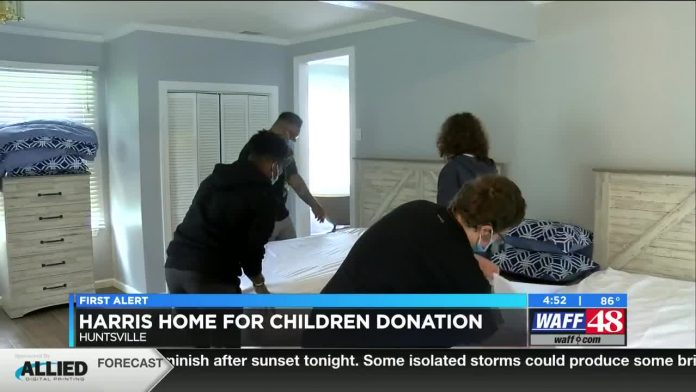 Huntsville foster home gets donation for new facility's furniture