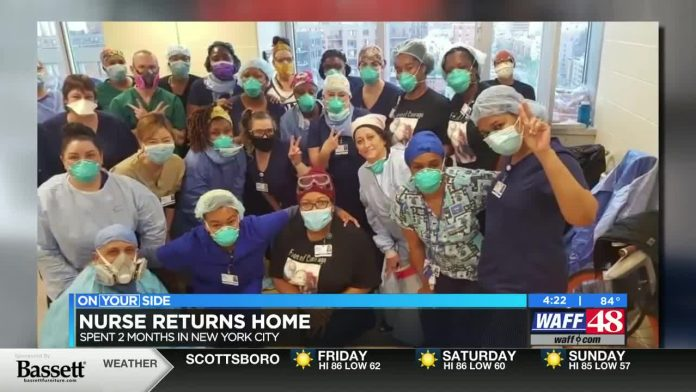 Huntsville nurse returns home after treating COVID-19 patients in New York