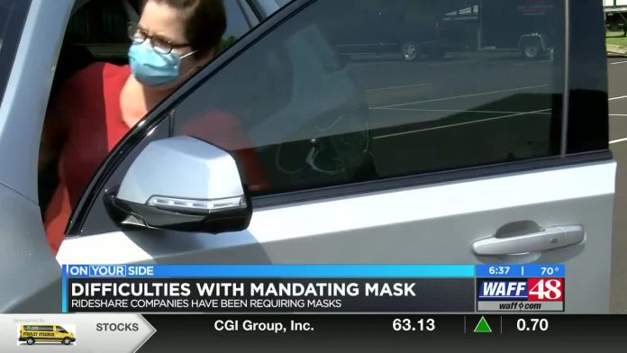 Rideshare driver struggles with requiring masks