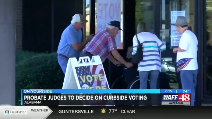 Alabama probate judges considering curbside voting for July primary