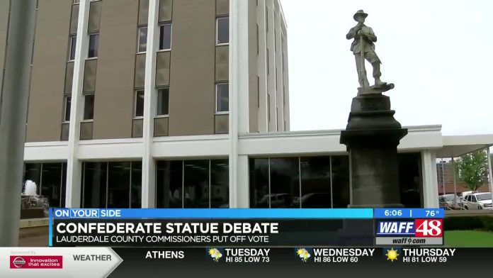 Lauderdale Co. commission does not vote on removal of confederate monument