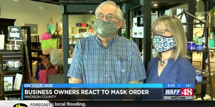 Madison County store owners hoping customers comply with mask order