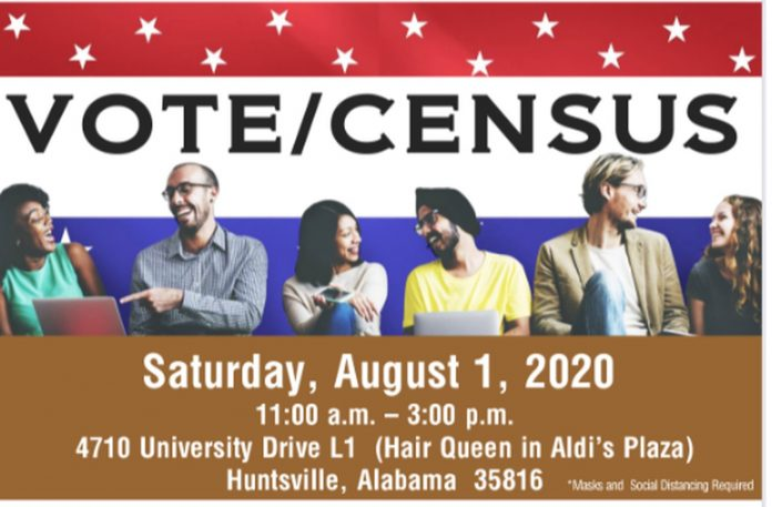 Outside voter signup, Census drive set Saturday in Huntsville