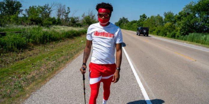 Alabama man makes 1,000-mile trek from Huntsville to Minnesota on foot in honor of George Floyd