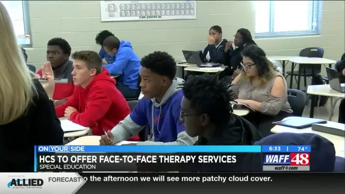 Huntsville City Schools will offer face-to-face therapy services for special education students