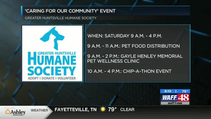 Huntsville Humane Society hosting drive-thru event