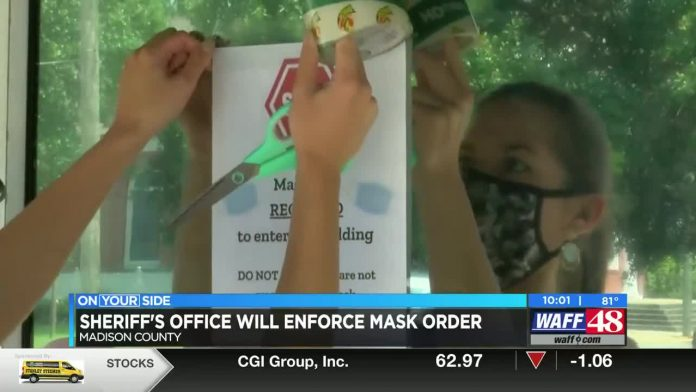 Madison Co. Sheriff's Office: Not wearing mask is a misdemeanor