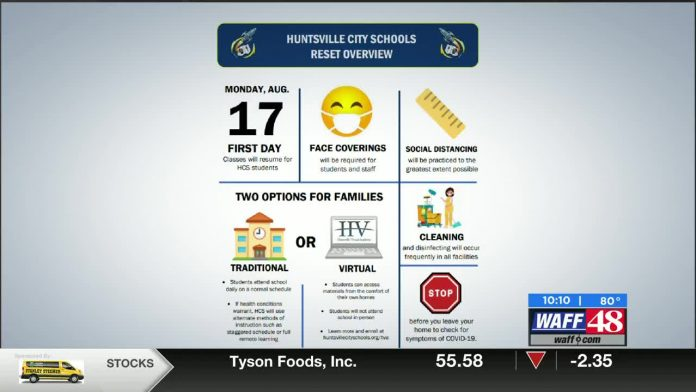 Huntsville City Schools unveils start date, learning options