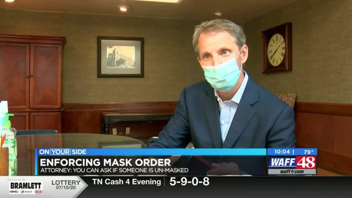Huntsville attorney: Employees can ask people why they're not wearing masks