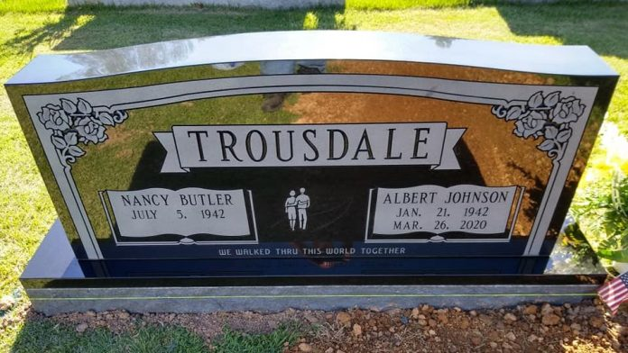 Albert Trousdale's Son Points COVID-19 Skeptics To A Tombstone