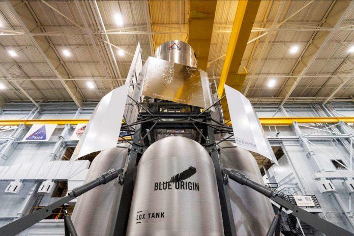 Kent-based Blue Origin, other companies deliver lunar lander mockup to NASA