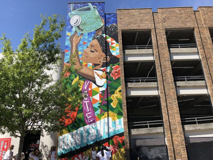 'Emotional' as Huntsville celebrates women's right to vote with towering mural