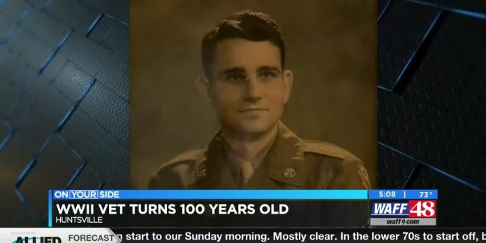 Huntsville man, WWII vet celebrates 100th birthday