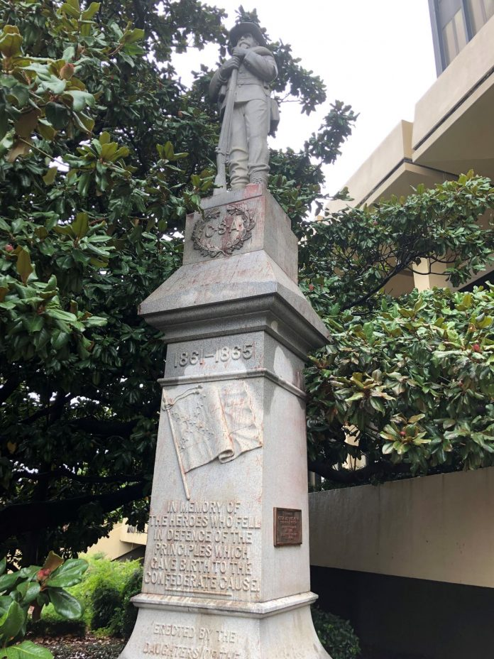 Huntsville's embattled Confederate statue gets mystery pressure-washing overnight
