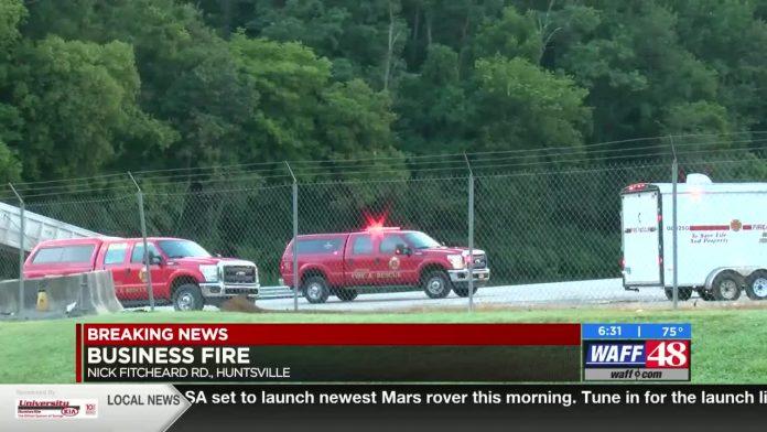Emergency crews respond to explosion, fire at Huntsville asphalt plant