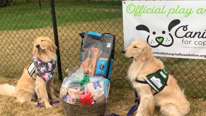 'Canines For Coping' dogs gifted holiday treat basket