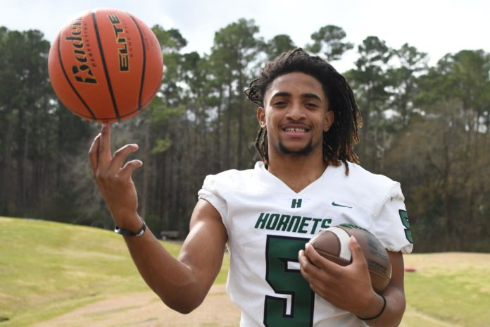 Jadarian White named Male Athlete of the Year after historic seasons on hardwood and gridiron