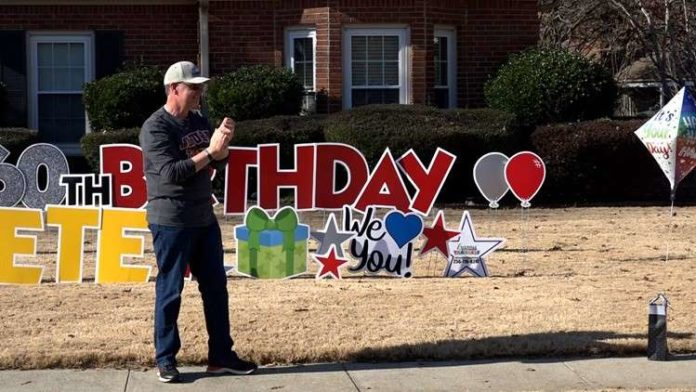 People in Huntsville aren't letting the pandemic stop them from celebrating a very special man