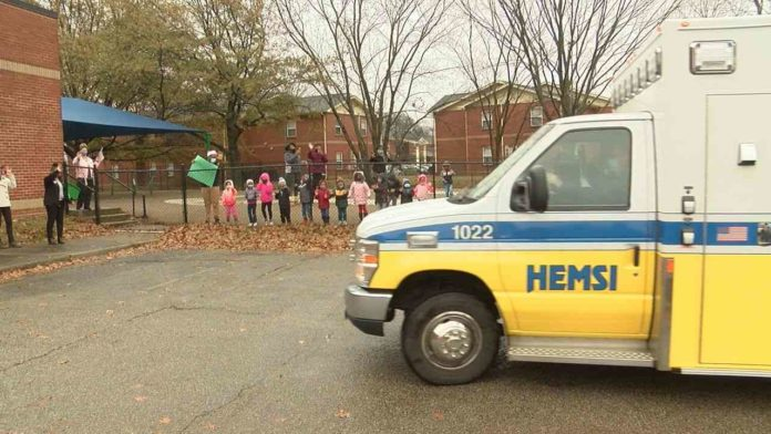 Huntsville Emergency Medical Services delivers Christmas cheer to local children