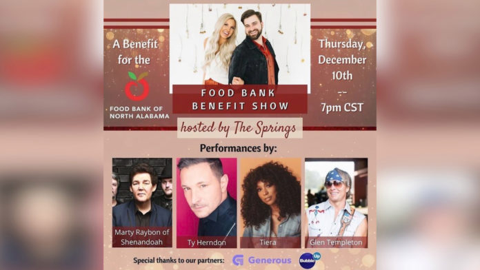 The Springs hosting virtual benefit concert for Food Bank of North Alabama