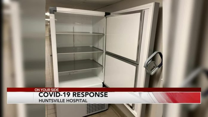 Huntsville Hospital received first COVID-19 vaccines Tuesday