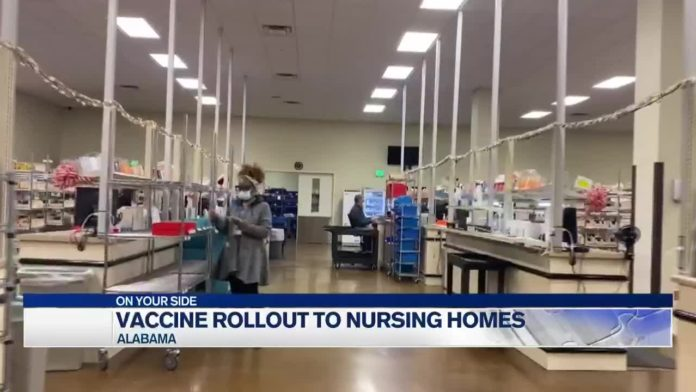 Alabama nursing homes scheduled to receive COVID-19 vaccines this week