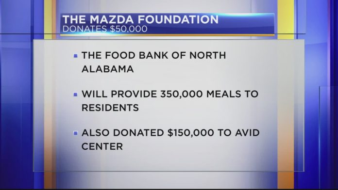 Mazda Foundation gives $200,000 in grants to two Huntsville organizations