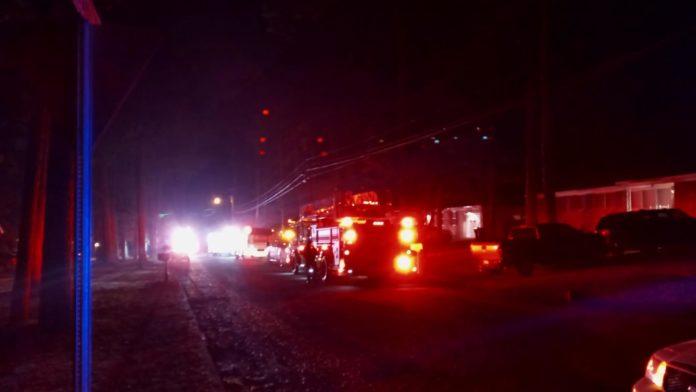 Huntsville Fire crews fight structure fire on Charleston Ave