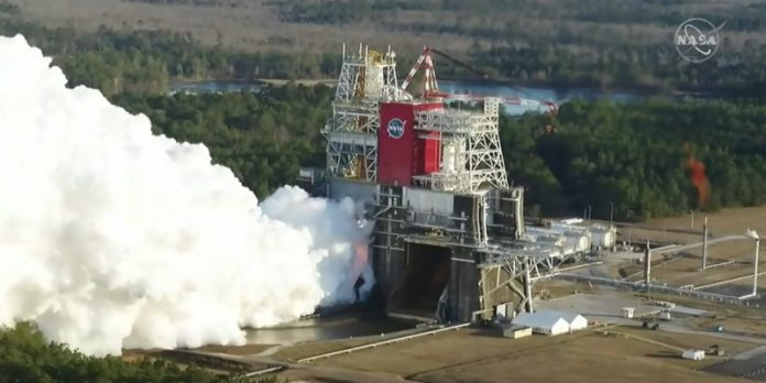 NASA successfully ignites engines on Huntsville-managed SLS core stage, collects valuable data