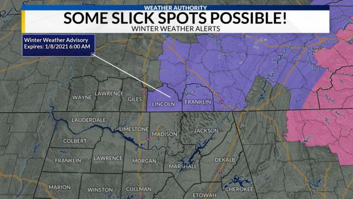 Winter Weather Advisory through Friday morning