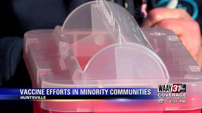 Coronavirus vaccine efforts focused on minority communities in Huntsville